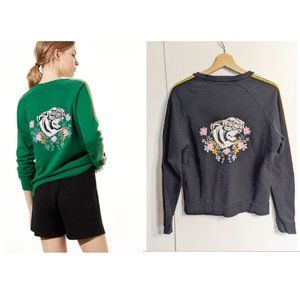 Aritzia Golden by Tna   Embroidered Tiger Sweater